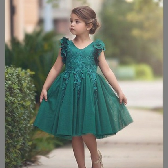 Little Girls Green Dresses
